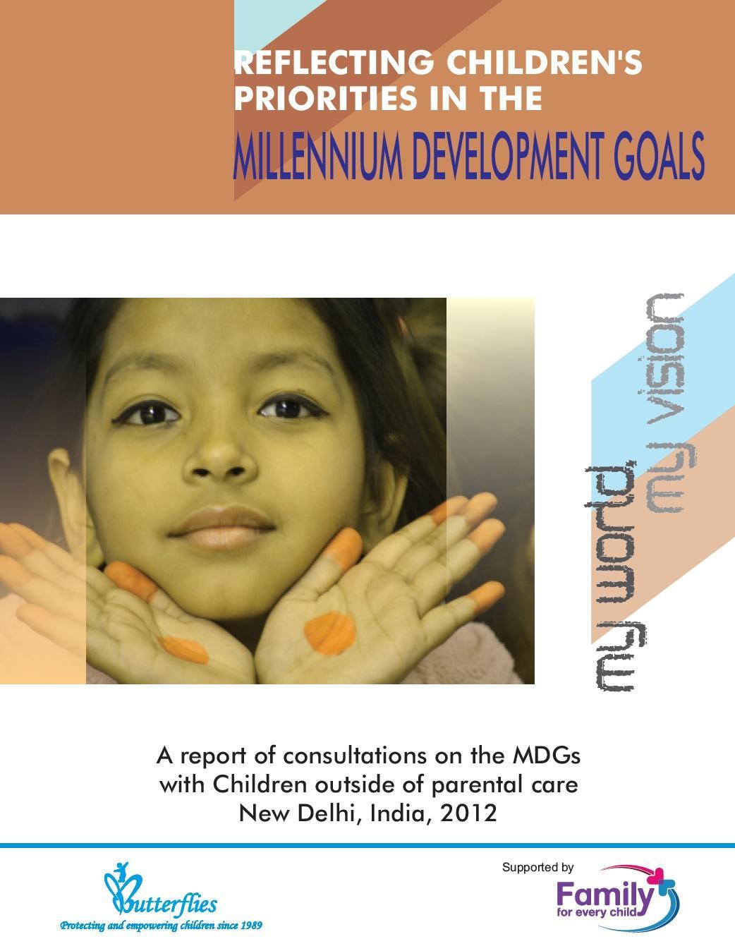 Reflecting Childrens Priorities in the Millennium Development Goals