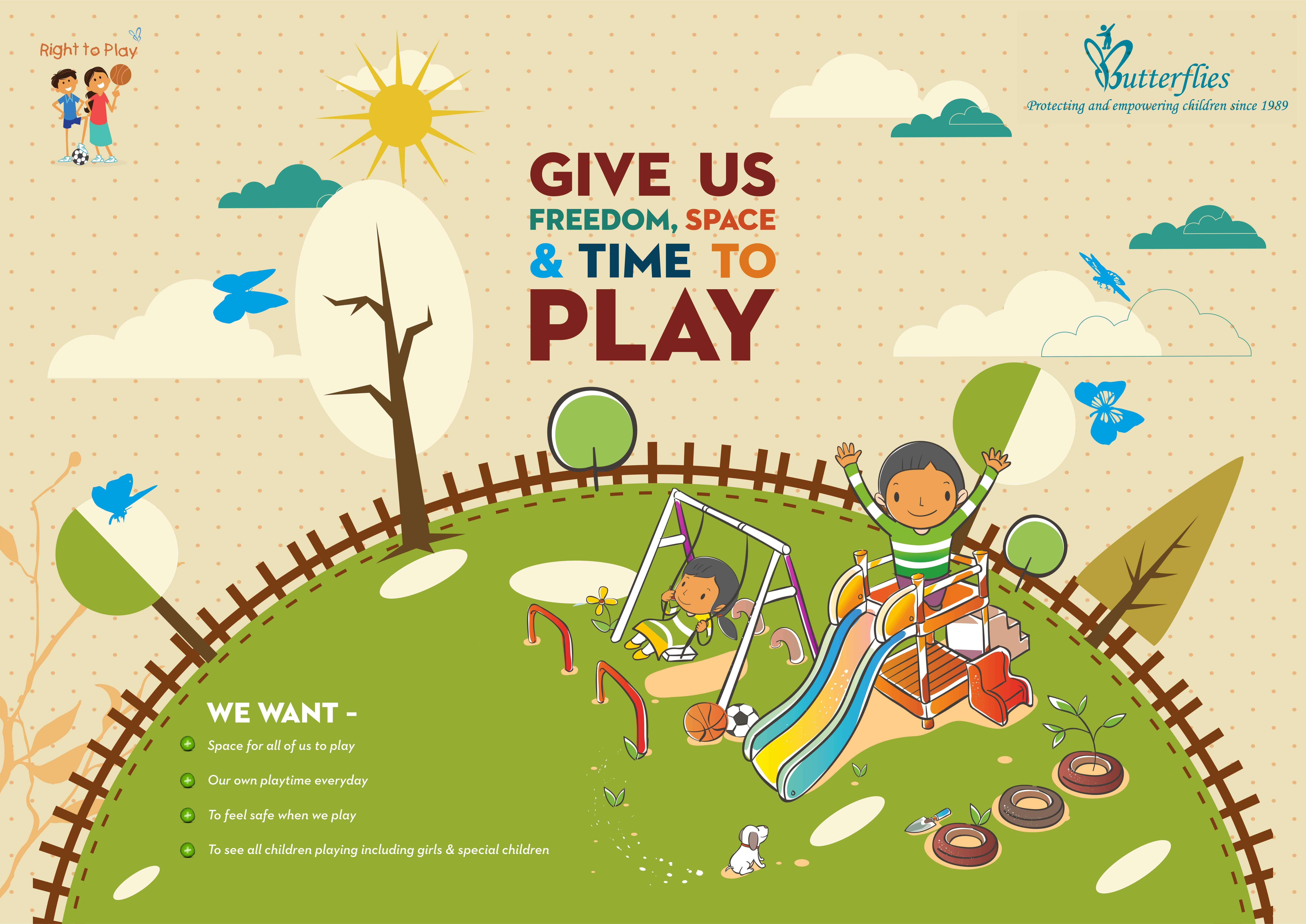 Right to Play Poster in English